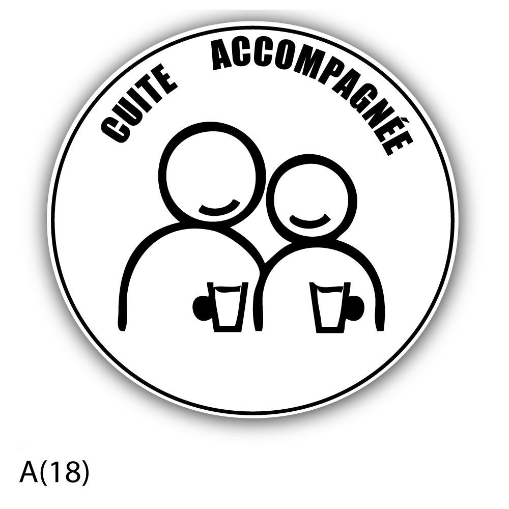 stickers motif humour autocollant jeune conducteur cuite accompagn e. Black Bedroom Furniture Sets. Home Design Ideas