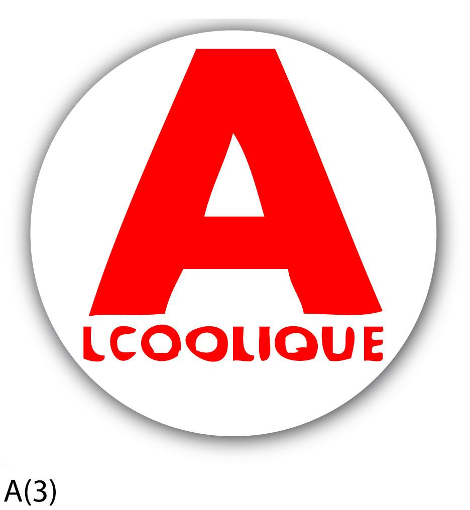 stickers motif humour autocollant jeune conducteur a lcoolique. Black Bedroom Furniture Sets. Home Design Ideas