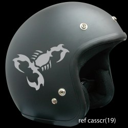 sticker casque moto motif scorpion